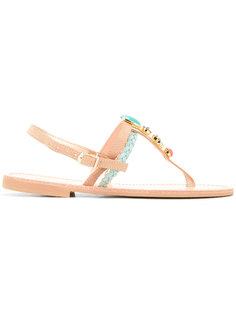 сандалии с Т-образным ремешком Thirassia Christina Fragista Sandals