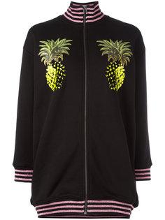 куртка-бомбер  с принтом ананасов Giamba