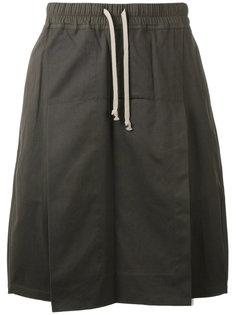 шорты-юбка на шнурке Rick Owens DRKSHDW