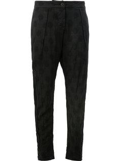 зауженные брюки с вышивкой Lost & Found Ria Dunn