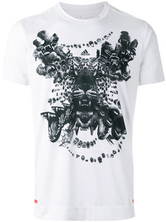 футболка с принтом тигра Adidas By Kolor