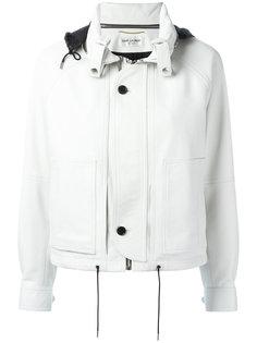 укороченная куртка с капюшоном Saint Laurent