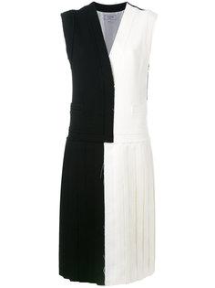 платье дизайна колор-блок с плиссировкой Thom Browne