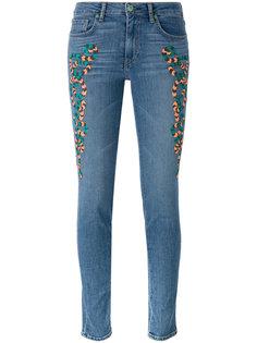 джинсы скинни с вышивкой Sandrine Rose