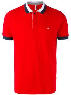 рубашка-поло с контрастной окантовкой Sun 68