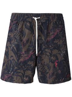 шорты для плавания с принтом Salvatore Ferragamo