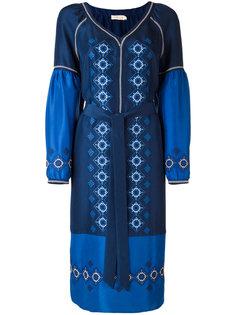 платье миди с вышивкой Tory Burch