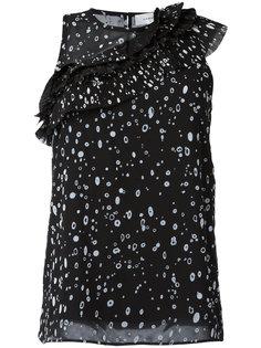 блузка с диагональной плиссировкой  Carven