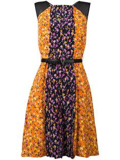 плиссированное мини-платье Flower Thrift  Versace