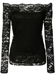 кружевная блузка с открытыми плечами Lagence