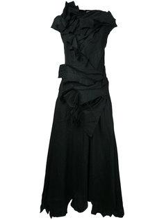 расклешенное платье миди с драпировкой Aganovich