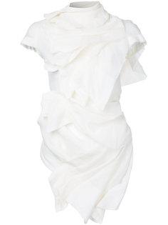 прозрачная блузка с драпировкой Aganovich