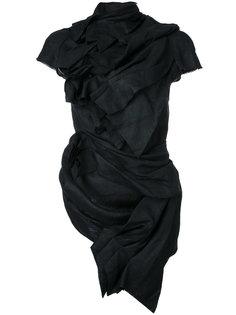 блузка с короткими рукавами и драпировкой Aganovich