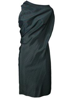 платье в полоску с драпировкой Mm6 Maison Margiela