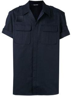 рубашка с короткими рукавами и потайной застежкой Neil Barrett