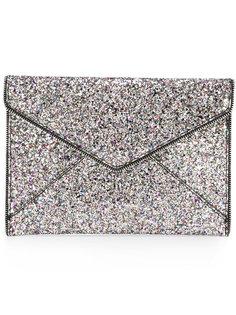 клатч-конверт с пайетками Rebecca Minkoff