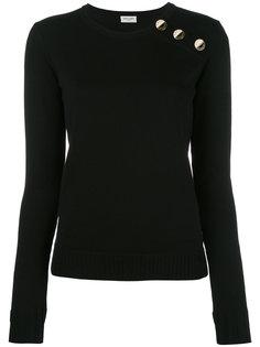 свитер с пуговичной отделкой Saint Laurent