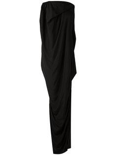драпированное вечернее платье  Rick Owens