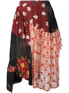 юбка в стиле пэчворк  Simone Rocha