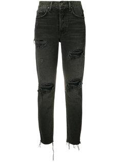 рваные укороченные джинсы Grlfrnd