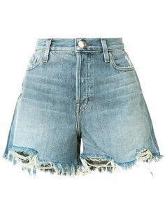 джинсовые шорты с бахромой J Brand