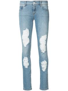 узкие джинсы Dixie с эффектом потертости Marcelo Burlon County Of Milan