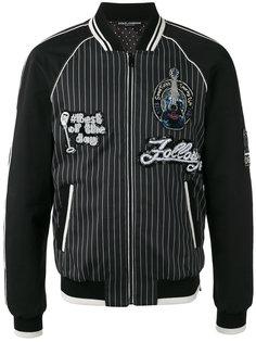 куртка бомбер с нашивками Dolce & Gabbana