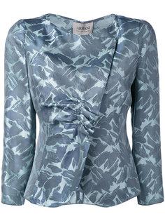 блейзер со сборками и вышивкой Armani Collezioni