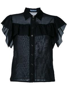 приталенная блузка с оборками Blumarine