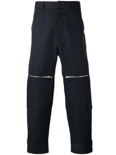 прямые брюки с молниями на коленях Stella McCartney