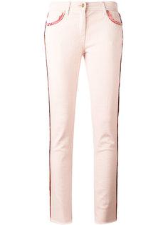 укороченные джинсы с ремешком  Etro