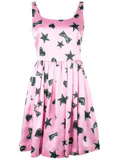 платье с принтом звезд  Moschino