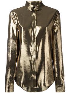 рубашка с эффектом металлик Saint Laurent