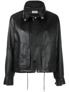 кожаная куртка с потайной планкой Saint Laurent