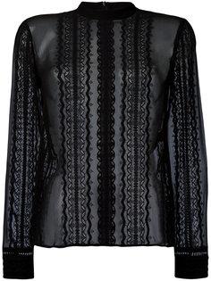 прозрачная блузка с кружевными вставками Elizabeth And James