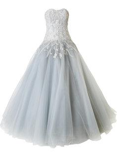 декорированное бальное платье без бретелей Marchesa