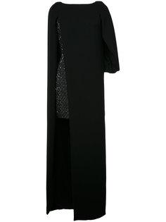 многослойное платье  Monique Lhuillier