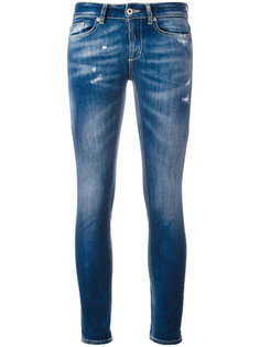 джинсы скинни с потертостями Dondup