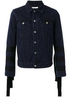 джинсовая куртка с бахромой на рукавах Givenchy