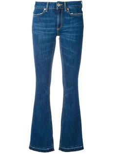 расклешенные джинсы с потертостями Dondup
