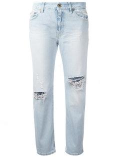 укороченные джинсы с рваными деталями Dondup