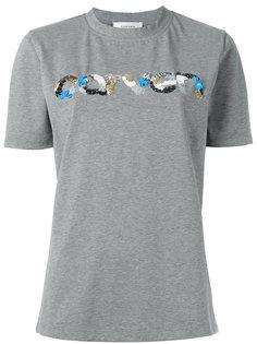 футболка с логотипом из пайеток Carven