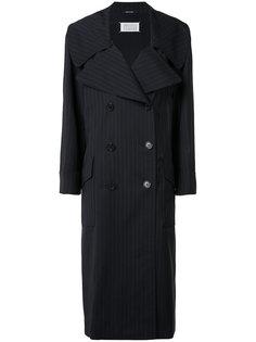 пальто в полоску Maison Margiela