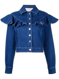 джинсовая куртка с оборками Sara Battaglia