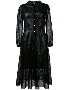 платье с сетчатым слоем Junya Watanabe Comme Des Garçons