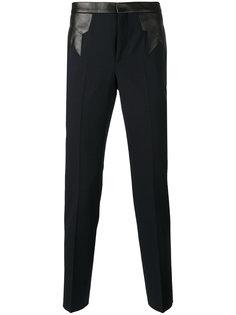 брюки с кожаной панелью Neil Barrett
