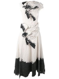 платье с эффектом краски Aganovich
