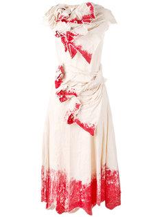 платье с принтом Aganovich