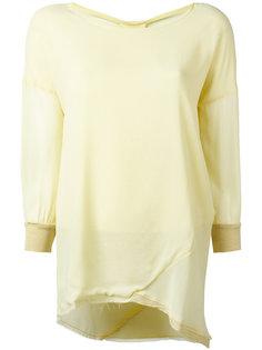 блузка с асимметричным подолом Kristensen Du Nord