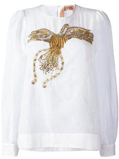 блузка с вышивкой и отделкой пайетками Nº21